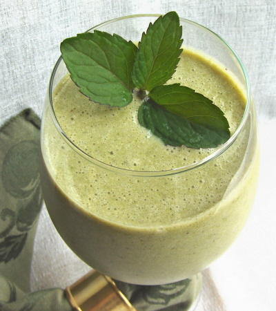 Papaya Hemp Mint Lime Smoothie